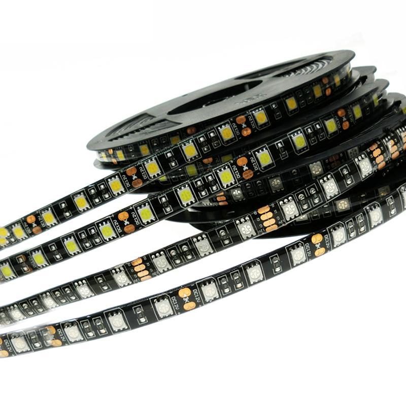 5050 nero PCB flessibile LED IP65 impermeabile DC12V 60LED / m 5m / lot
