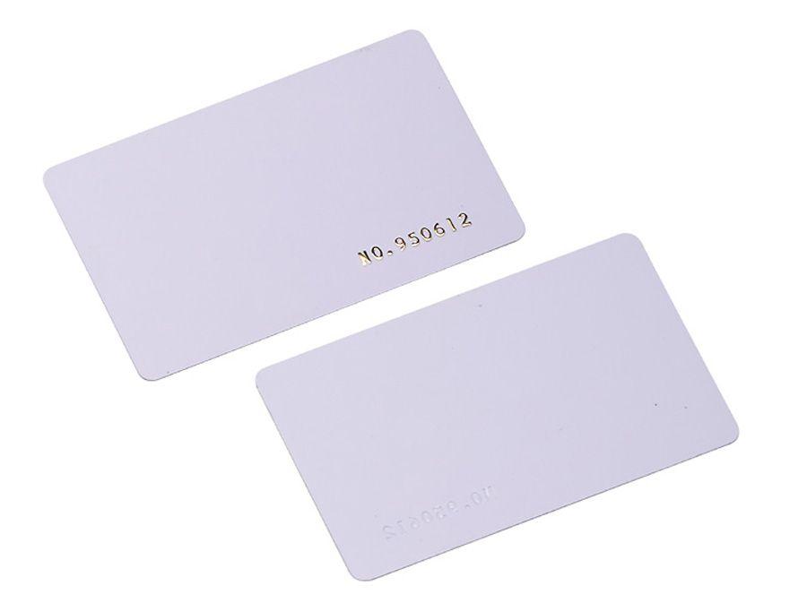 100 pçs / lote TK4100 4102 / EM 4100 chip RFID 125 KHz cartão em branco Fina PVC ID Cartão Inteligente