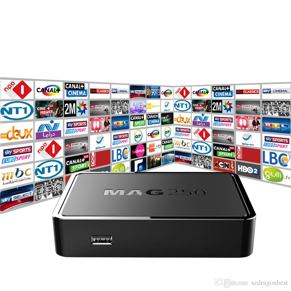 Top Quality IPTV BOX MAG 250 with 1100+Live TV Channels IPTV Box