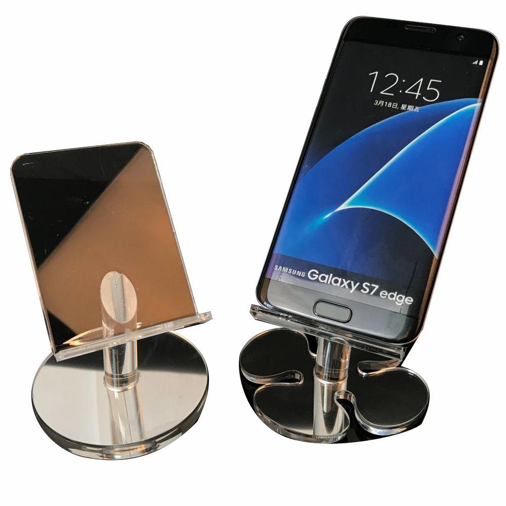 Supporto per mensole in acrilico per telefono cellulare con supporto per display da 6 pollici iphone samsung HTC a buon prezzo DHL gratuito