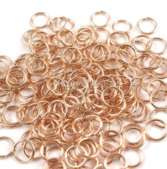 500 pezzi 4mm 5mm 6mm Open Jumprings Rose placcato oro anelli di salto - anelli divisi forniture fai da te accessori gioielli