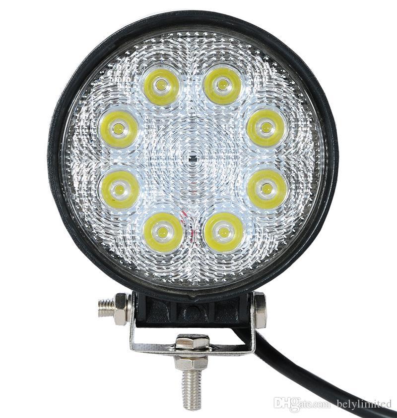 뜨거운 판매 스포트 빔 LED 작업 빛 8LED 24W 안개 램프 홍수 빔 고품질 1pcs LED 작업 빛 LED 운전 빛