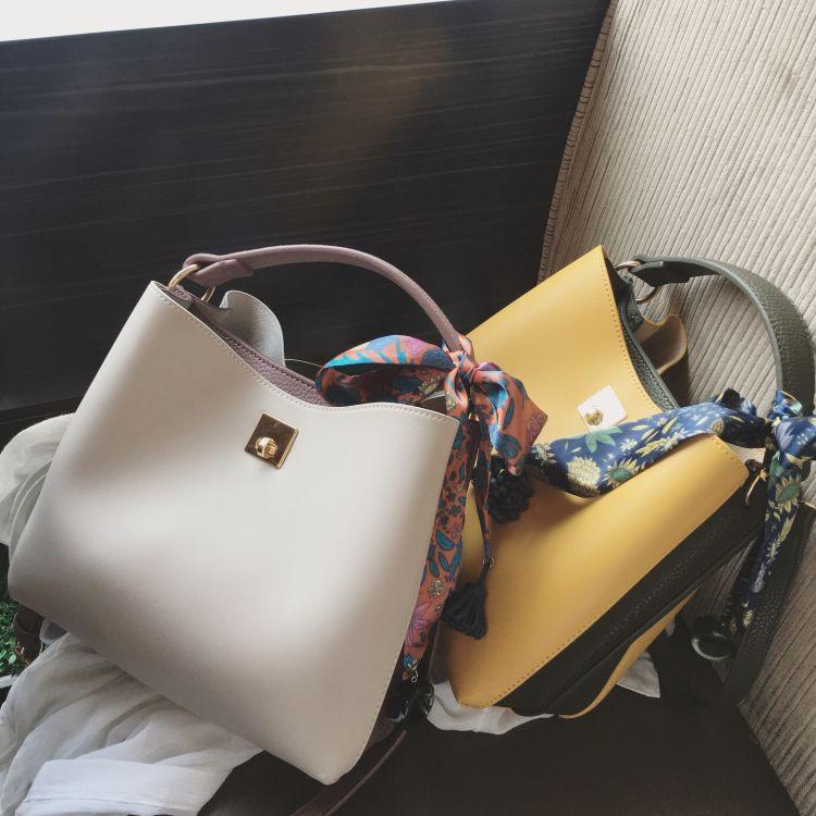 Sacos Novo Frete 2021 Moda Bucket Bag Designer Hand Shoulder Scarf Atacado Mensageiro Casual Bolsa de Varejo Grátis Mulheres Udxjc