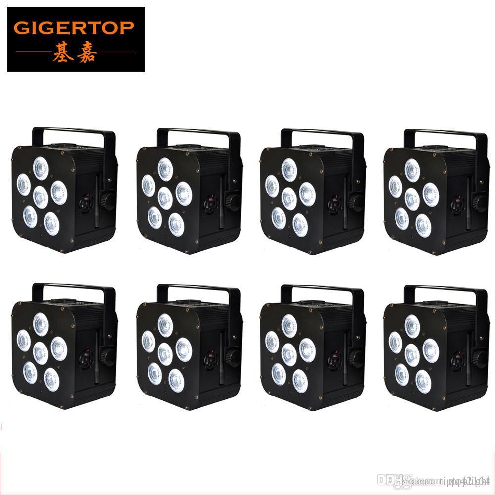 Freeshipping 8XLOT 6X18W batterie rechargeable sans fil Powered 6in1 LED Par lumière peut 110W infrarouge Uplight CE ROHS Tianxin TP-B04 Leds