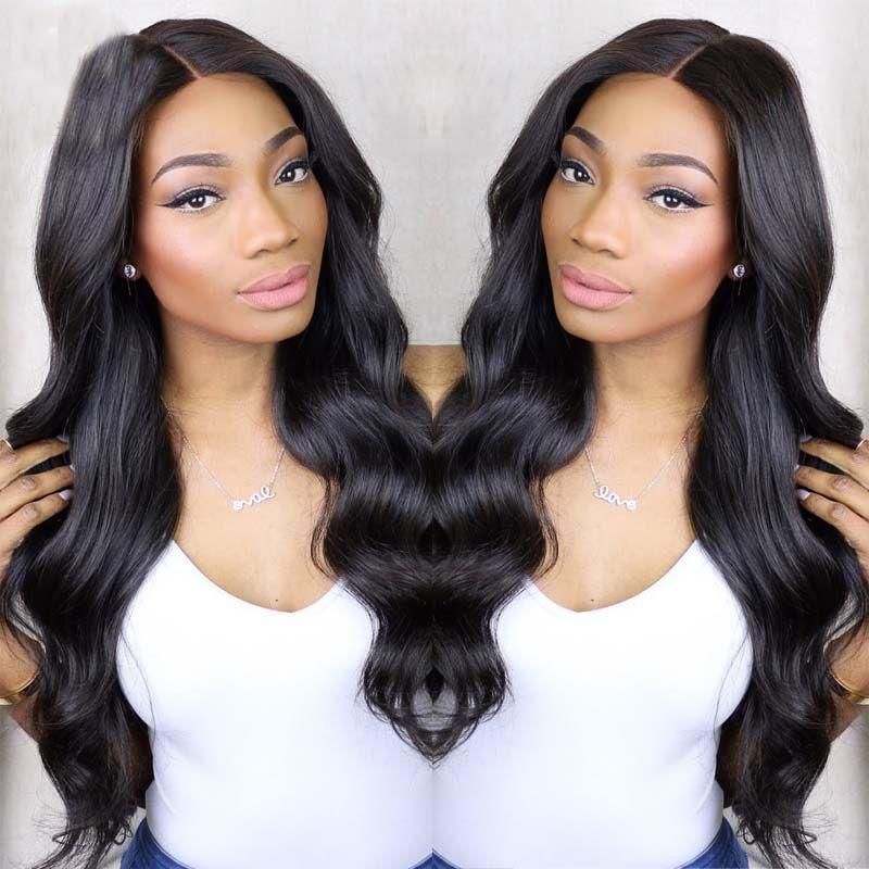 يشبع الإنسان الشعر الباروكات متموجة 10a البرازيلي غلويليس كامل الرباط الباروكات الإنسان الشعر الرباط الجبهة الباروكات الأسود النساء