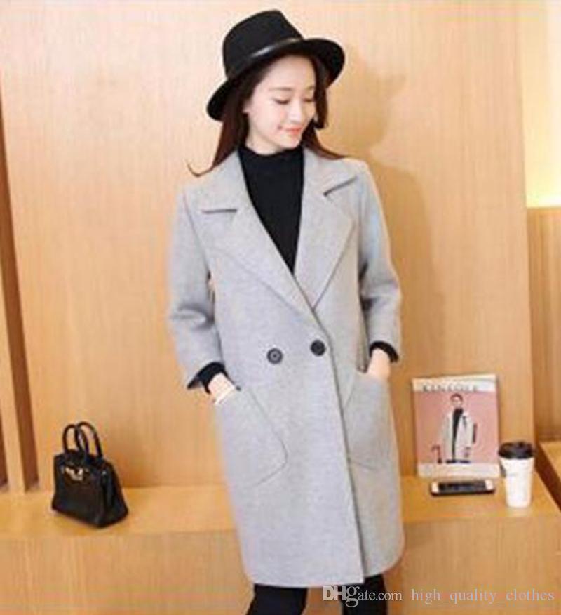 qiu 동판 에디션 레저 패션 디자인 쇼 얇은 긴 캐시미어 천으로 트렌치 코트 683 / S - XL의 여성 기질 있음