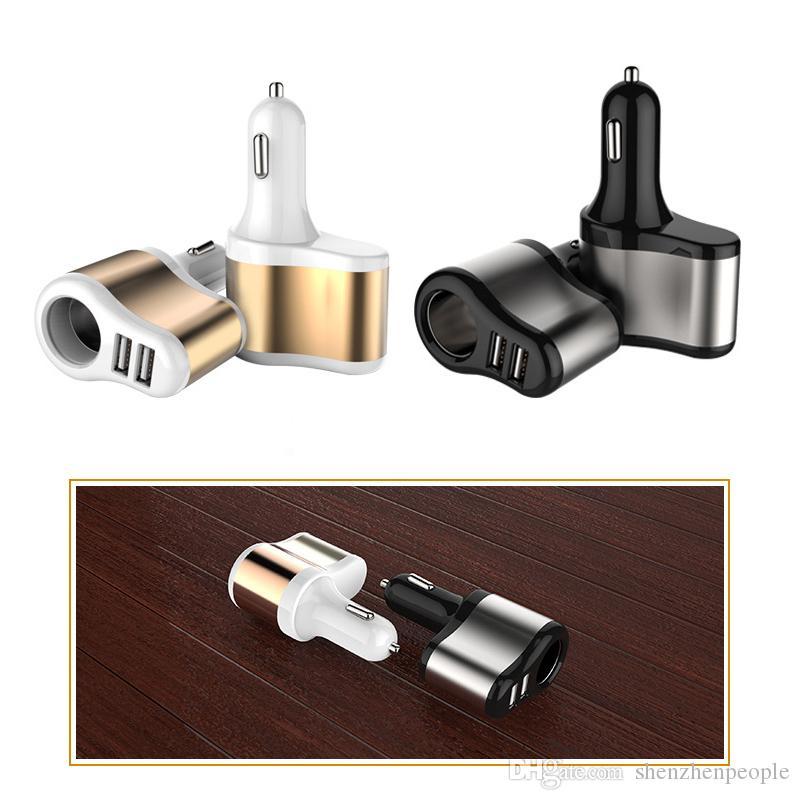 Adattatore universale per caricabatterie da auto Dual USB 2 Port 3100mah Caricabatteria da auto 3.1A Adattatore di alimentazione per accendisigari