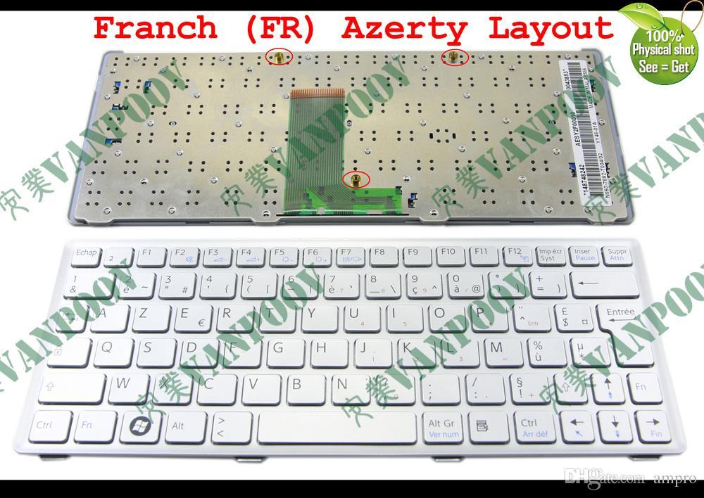 Tastiera del computer portatile per Sony Vaio VPC-W Serie VPC-W217 Argento francese Versione FR - 148748242