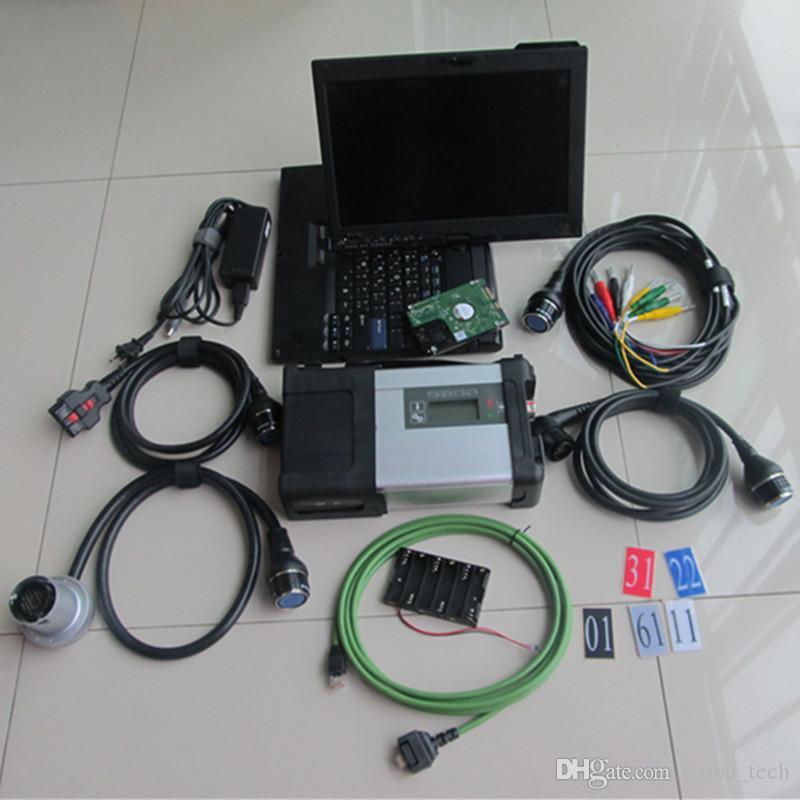 Qualité supérieure pour MB STAR C5 SD connect Scanner de diagnostic automatique Développeur Xentry Puce complète mb star c5 avec ordinateur portable x201 4 Go de ram
