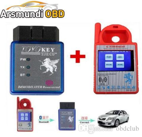 2017new good Bluetooth Mini CN900 Transponder Key Programmer Plus TOYO Key OBD II Pro for 4C 46 4D 48 G H Chips Funtion For All Key Lost