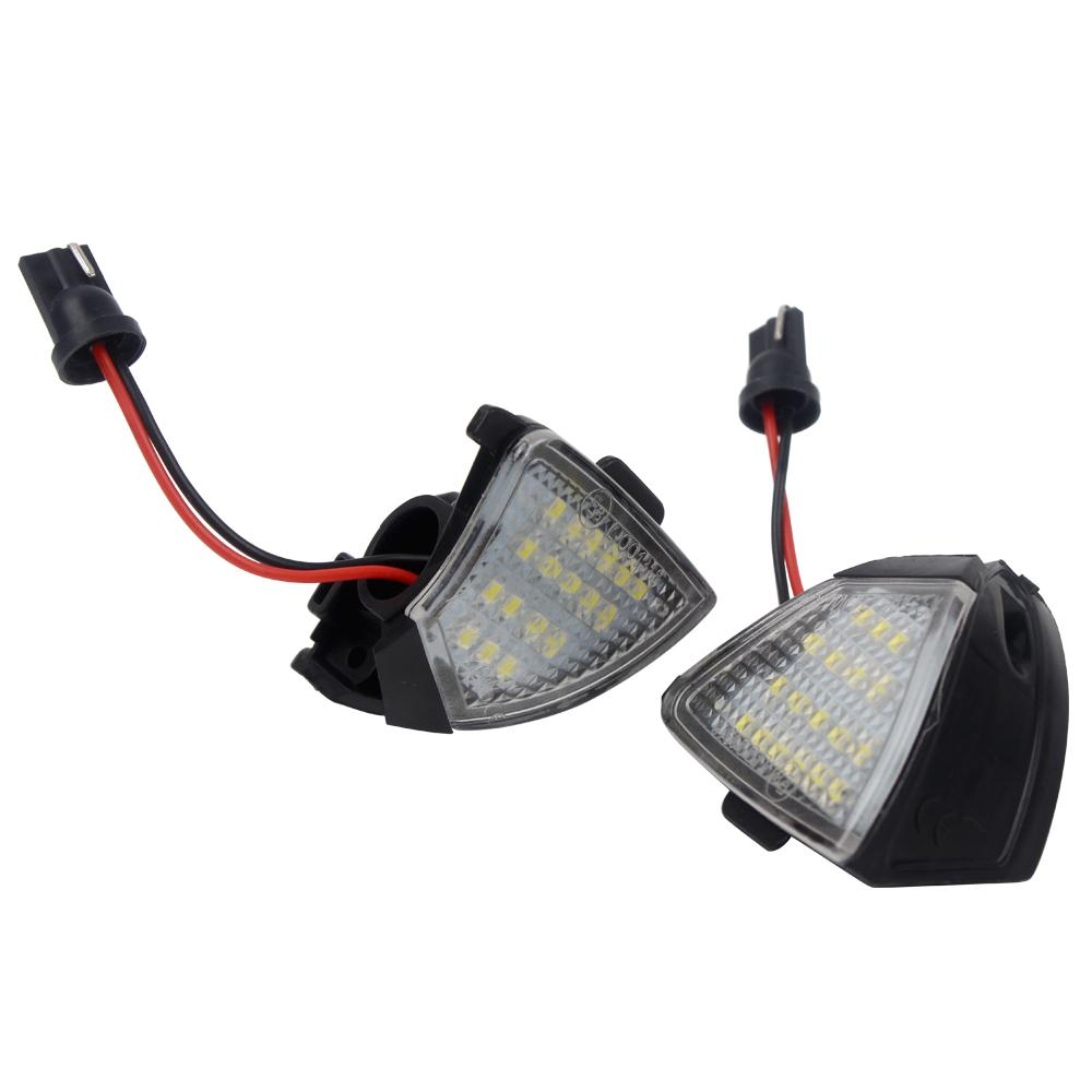 Rearview Mirror Lamp Puddle Lamp 2 Pcs LED Under Side Mirror Light For VW Golf 5 Passat Jetta EOS Error Free Light Source
