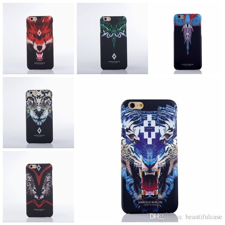 release date: 17942 0f8bd For Iphone 6 Marcelo Burlon Cover Boa Tiger Leopard Funda Pc Case ...
