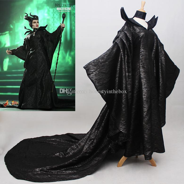 2017 Black Adult Size Long Sleeve Women Maleficent Outfit Cosplay Costumes Maleficent Dresses Plus Size Customized Canada 2019 From Honestyinthebox
