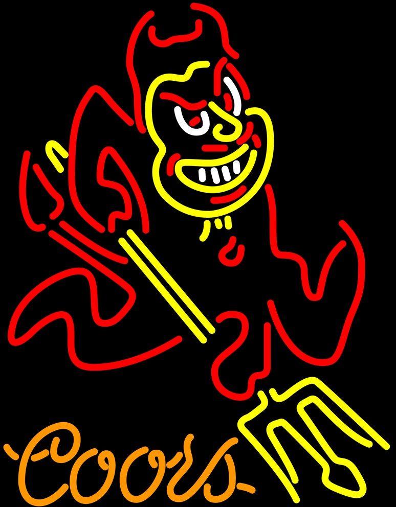 Coors Arizona State Sun Devils segno al neon ASU Neon Sign