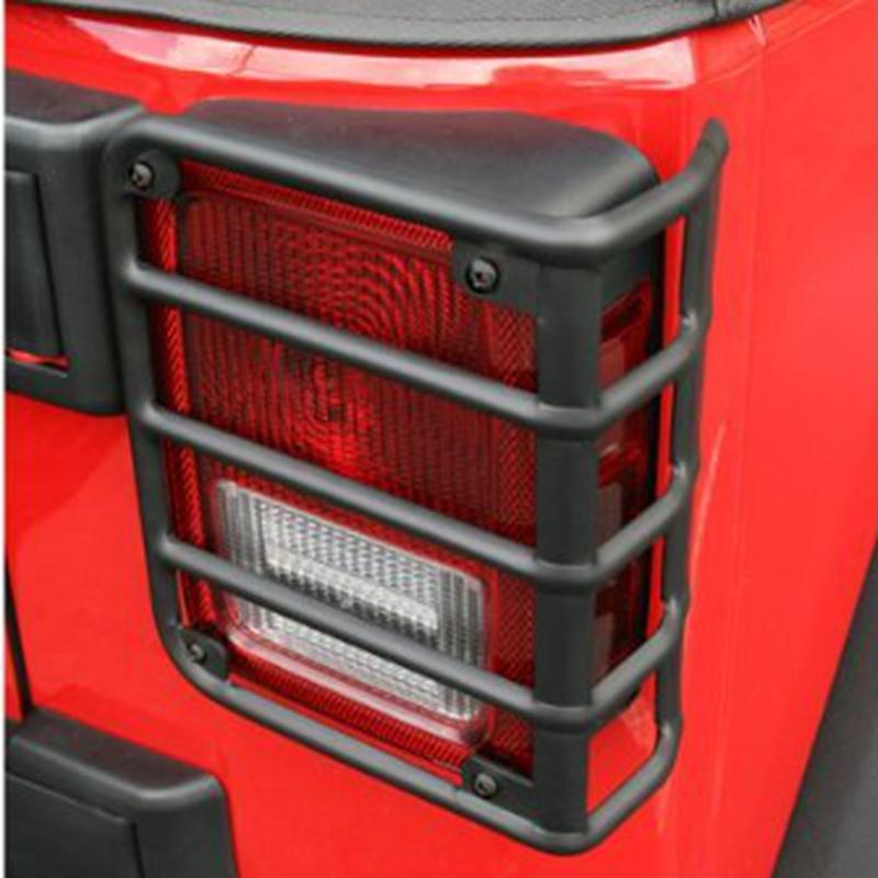 WYYINLI 2pack Tail Light Cover Trim Matte Rear Side Rugged Off Lamp Guards Protector fit Jeep Wrangle JK /& Unlimited 2007-2018 Lamp Guards F