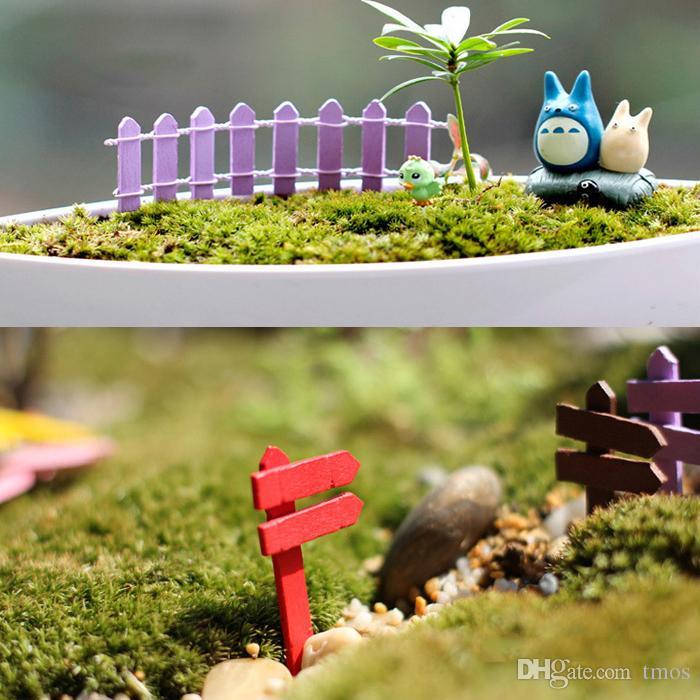 Atacado Mini cercas cerca jardim de fadas miniaturas gnome musgo terrários garrafa de mesa jardim resina artesanato decoração para casa