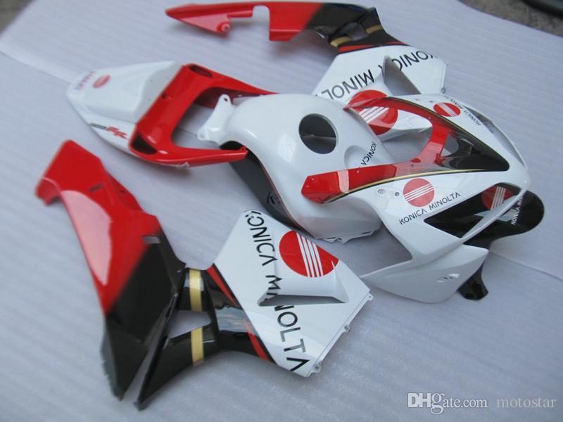 O molde da injeção livra personaliza o kit da carenagem para Honda CBR600RR 05 06 carenagens vermelhas brancas ajustadas CBR600RR 2005 2006 OT19