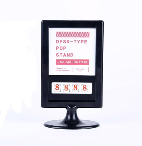 10pcs Prezzo talker segno carta Desktop - Promozione POP etichetta etichetta carta cornice fronte-retro portafoto cornice