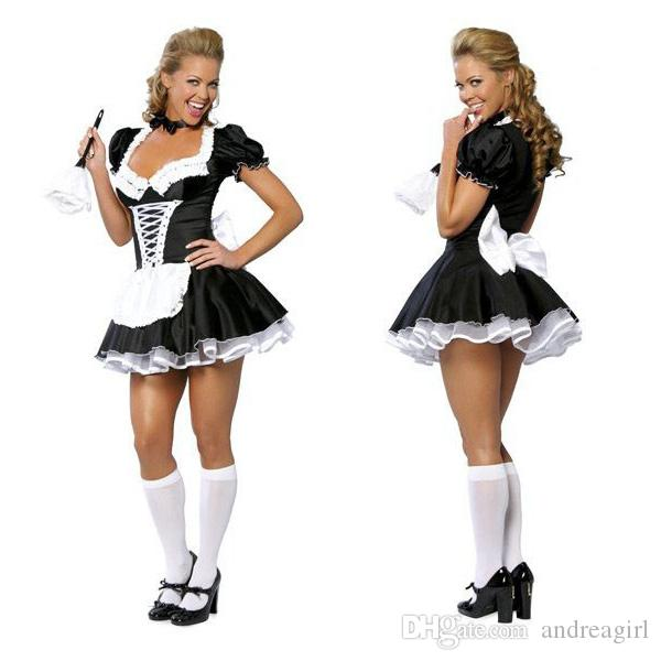 2020 Late Nite Maid Sexy Halloween Costumes Party Costume