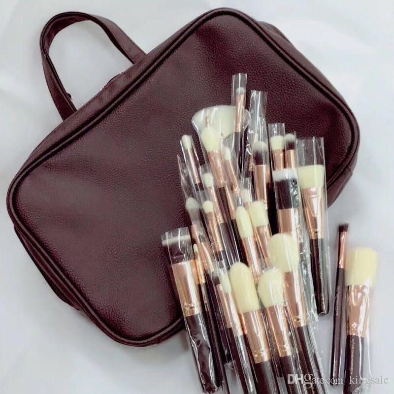 escovas de alta qualidade 30pcs estabelecidos com pincéis de maquiagem kit saco 30pcs saco de cosmética = transporte DHL escova 1set