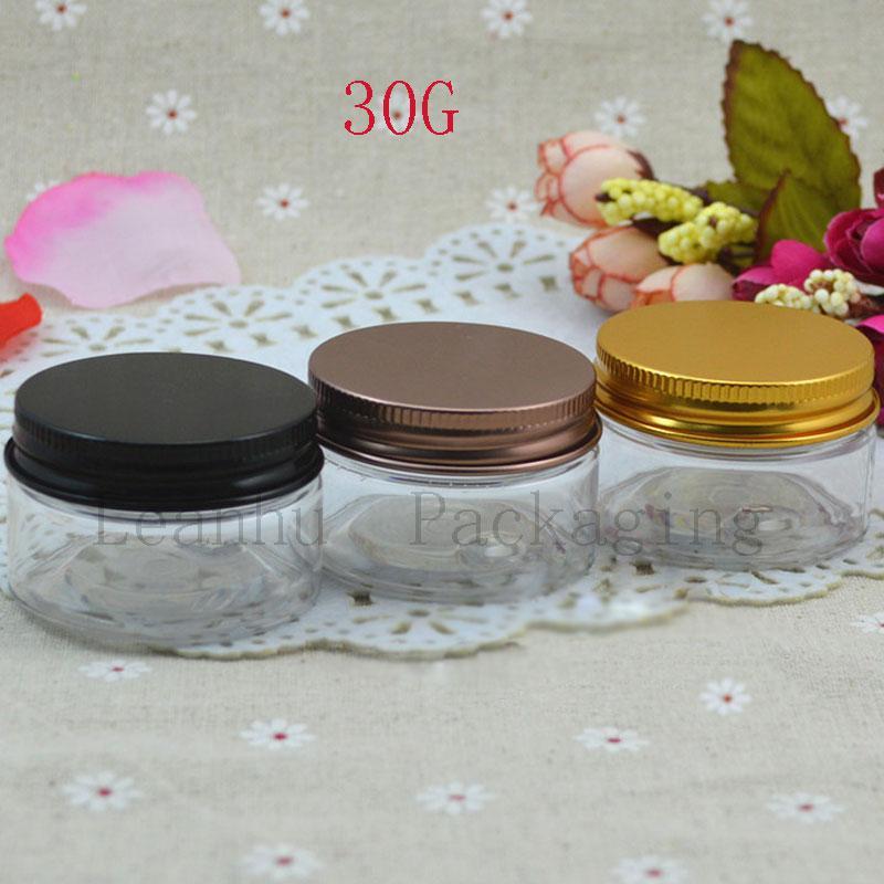 تغليف مستحضرات التجميل من Clear Cream Jars ، حاويات صغيرة ، 30cc حاويات مستحضرات التجميل الفارغة ، كريم الوجه القابل لإعادة التعبئة ، قناع الوجه يمكن