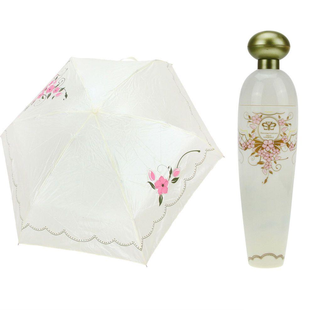 2019 Novelty Perfume Bottle Shaped Folding Umbrella Mini Portable Sunshade  Anti UV Rain Parasol White Hard Case Pink Princess Design From Venus2013,