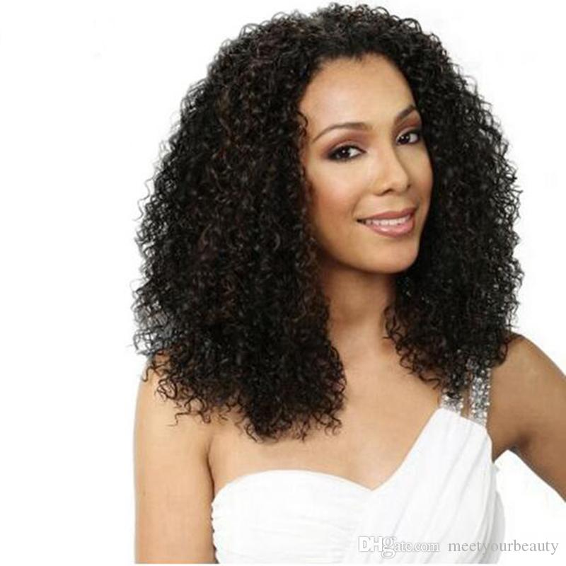 Charming hot afro curly full simulation human hair wig afro kinky curly Wigs For Women In Stock