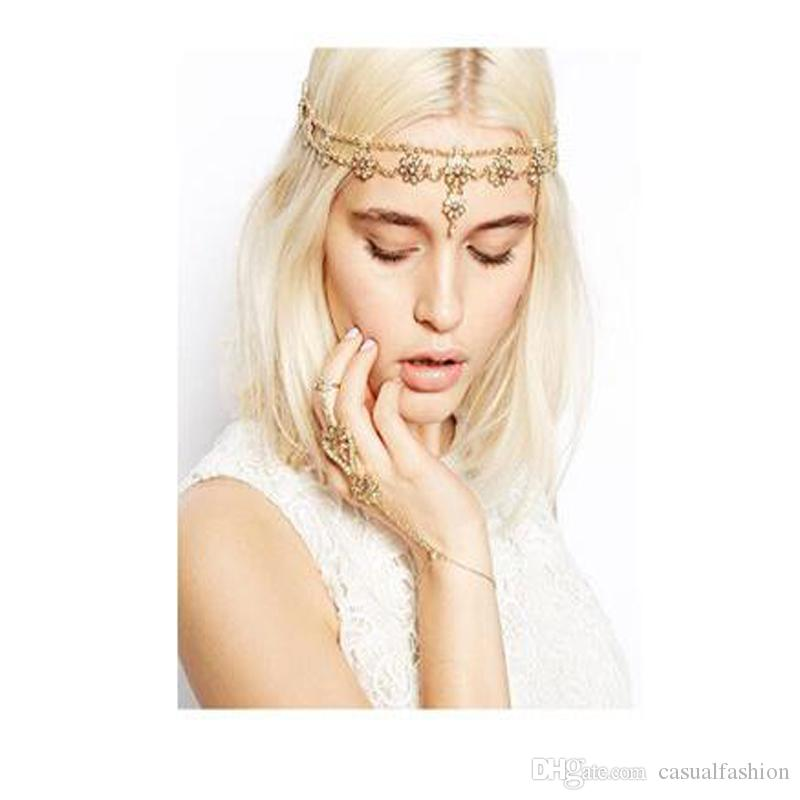 2019 Europe and The United States Ladies Temperament Sweet Flowers Band Headband Hoop Bride wedding Headpieces