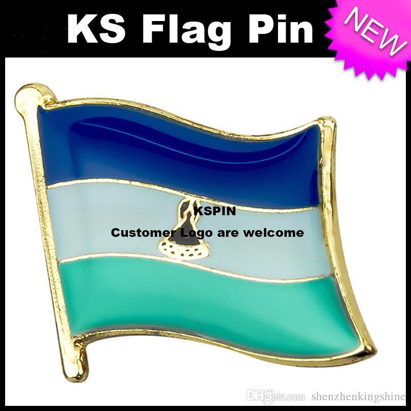 Lesotho Flag Badge Flag Pin 10pcs molto Spedizione gratuita KS-0099