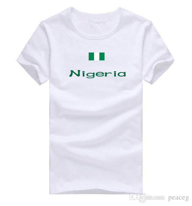 Nigeria T shirt Win honors sport short sleeve Contingent training tees Nation flag clothing Unisex cotton Tshirt