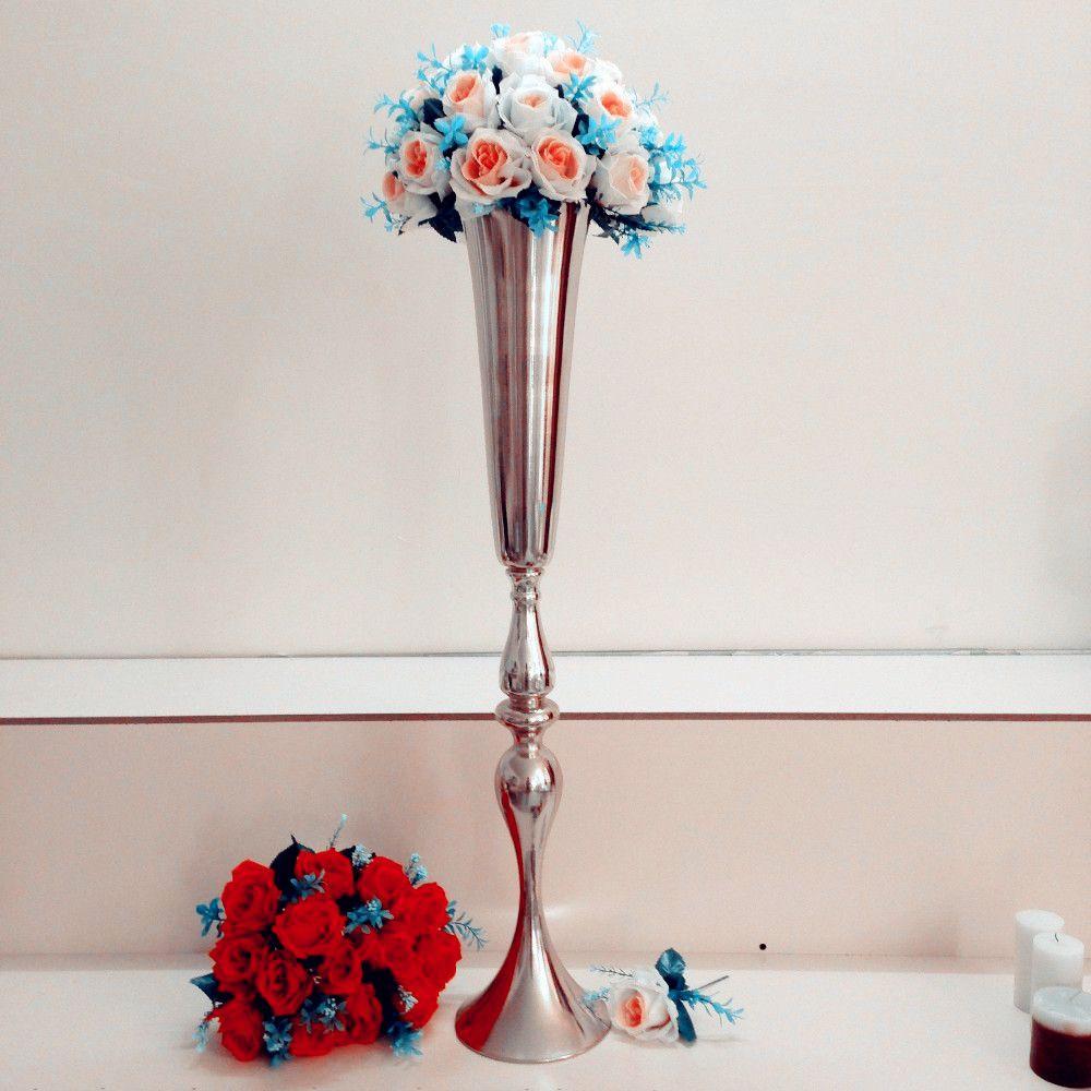 altezza cm Nuovo! oro passerella pavimento da matrimonio / vaso alto e grande per centrotavola da matrimonio