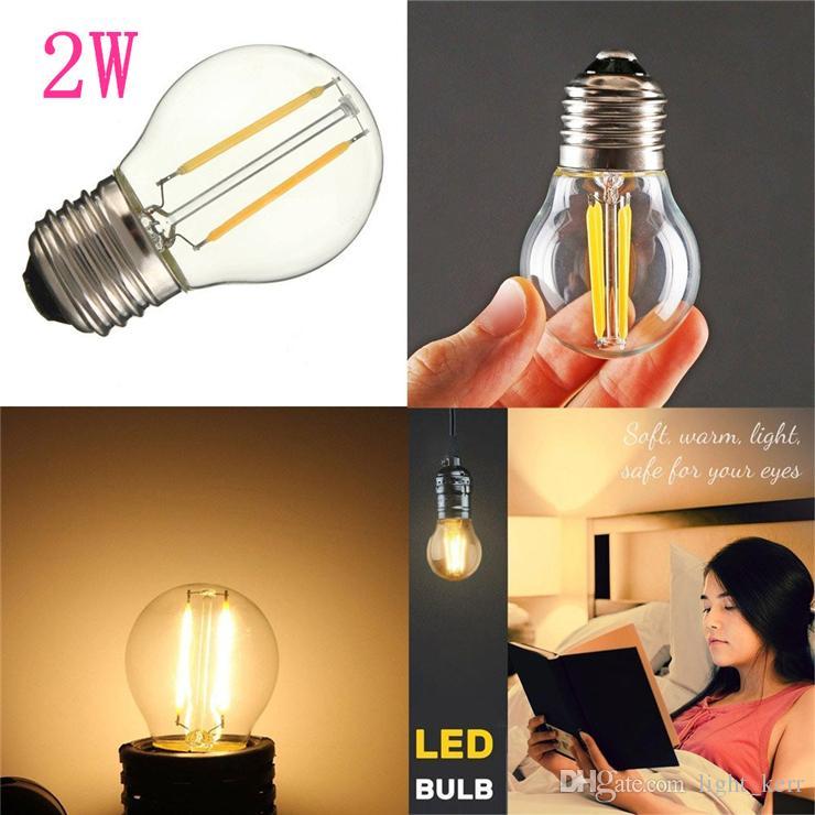 Светодиодные лампочки 15 Вт Замена G45 2W Dimmable 110V / 220V Светодиодная лампа E12 / E14 / E17 / E26 / E27 / B15 / B22 Разъем мягкий белый глобус лампочки 2700k