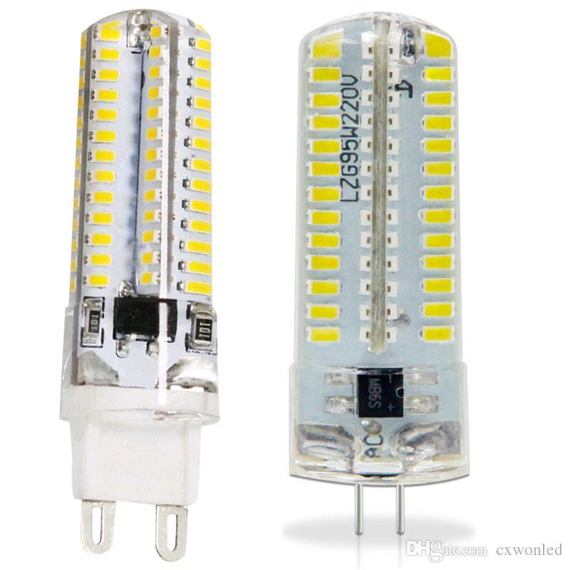 100PCS G9 G4 blanco / caliente 3W 3014 lámpara AC110V-130V AC220v-240V LED de la lámpara del bulbo de la lámpara 360 Beam DHL ángulo barco 2835 SMD 64LEDs