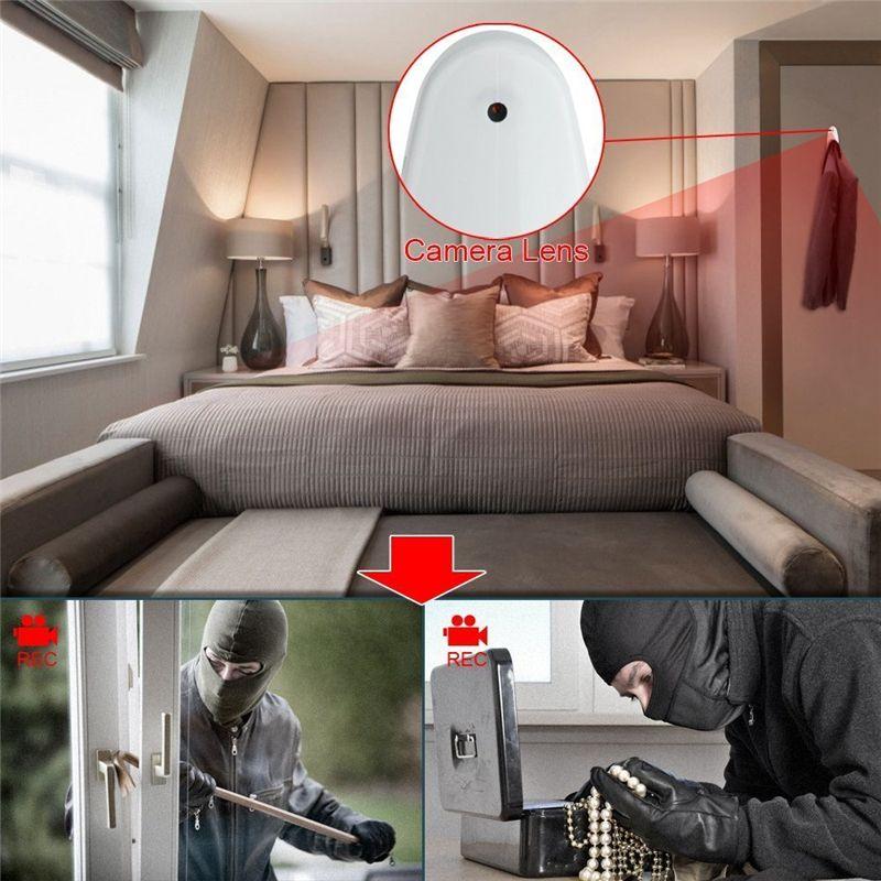 HD 720P Spy Hidden Clothes Hook Camera Pinhole Cam Mini DVR Audio ...