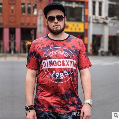 T-shirt stampata creativa di vendita calda T-shirt a maniche corte allentata casuale Persona grassa T-shirt oversize adolescente Hippop Streetwear Tees in vendita