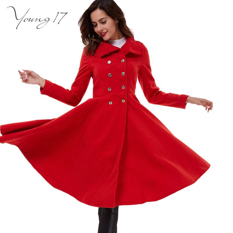 presenting choose newest 50% price 2017 Young17 2016 Winter Coat Women Double Breasted Wool Coats Oversize  Ladies Blue Long Trench Coat Casacos Femininos Red Coats Wool From Probag,  ...