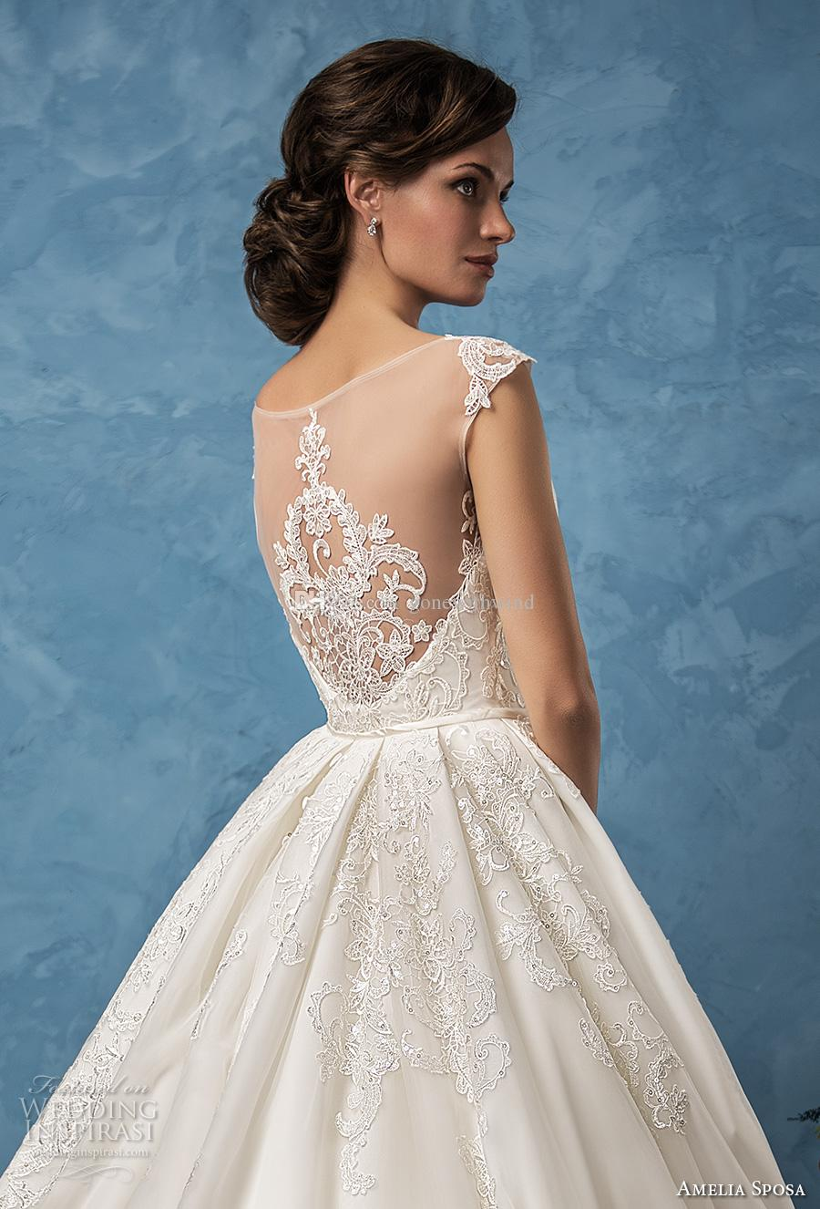 Mermaid Overskirt Wedding Dresses 2017 Amelia Sposa Bridal Gowns Cap ...