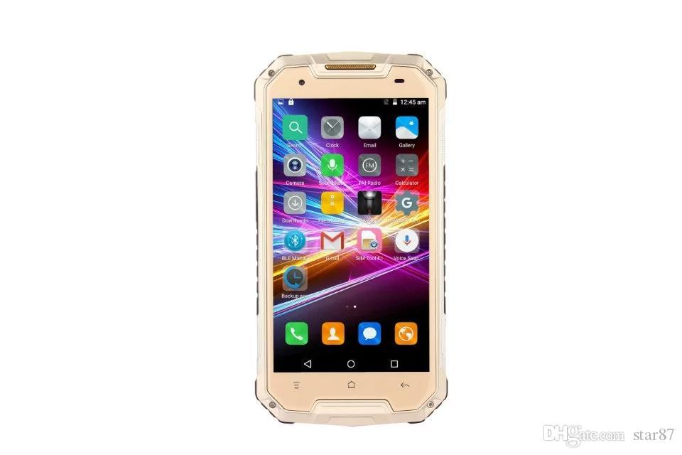 "Chinese brand IP67 Rugged Waterproof Phone 4.5"" IPS MTK6580 Android 4.4 960X540 1GB RAM 4GB ROM WCDMA 3G dual sim card Smart Phone"