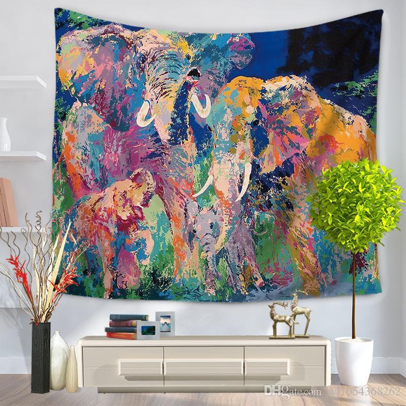 Elephant Tapestry Wall Hanging india elephant tapestry blanket mandala boho wall hanging home