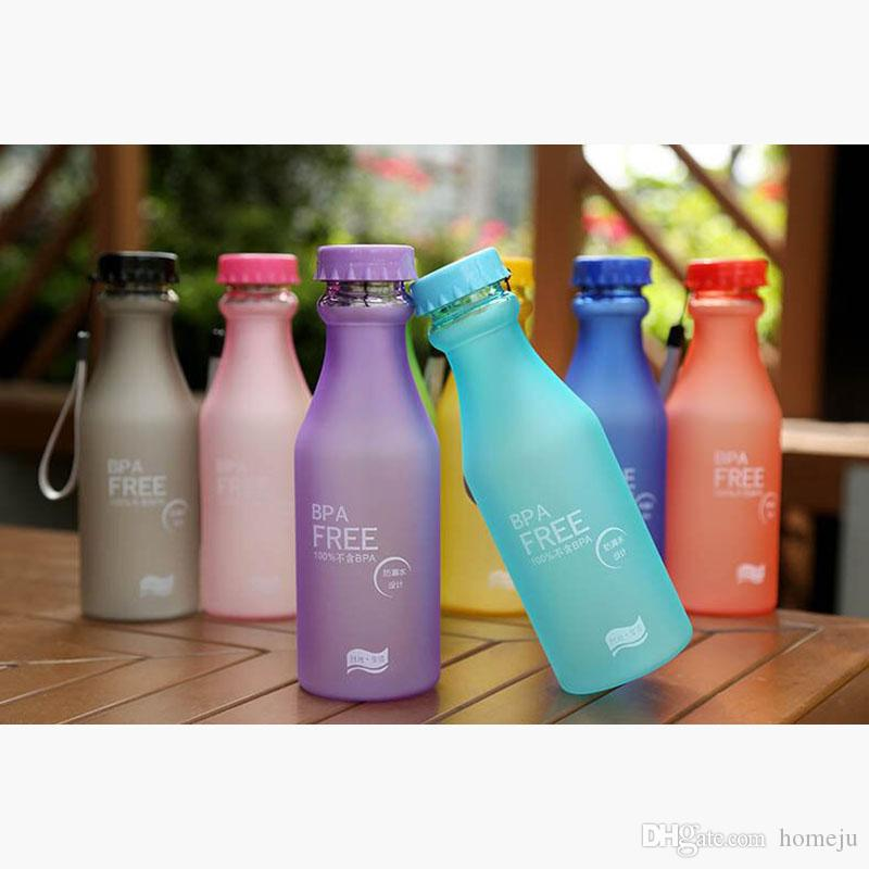 Portable Water Bottle High Quality Plastic Frosted Leak-proof Cups for Outdoor