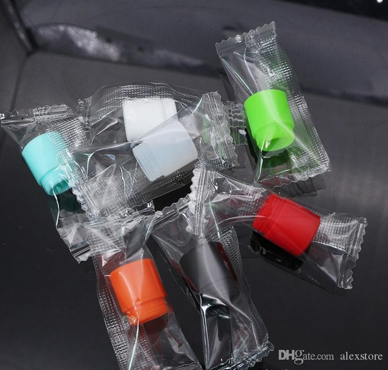 810 Wide Bore Silicone Disposable Drip Tip Colorful Mouthpiece Cover Rubber Test Caps with Single Package for TF12 TFV8 big baby Kennedy