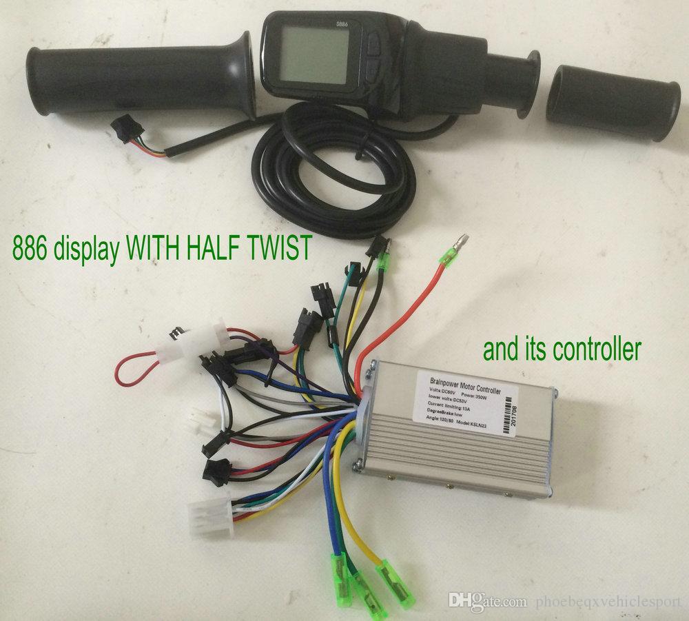 24v36v48v60v 250w350w LCD display halb twist gas + BLDC controller für elektrische fahrrad roller faltingbike intelligente fahrrad