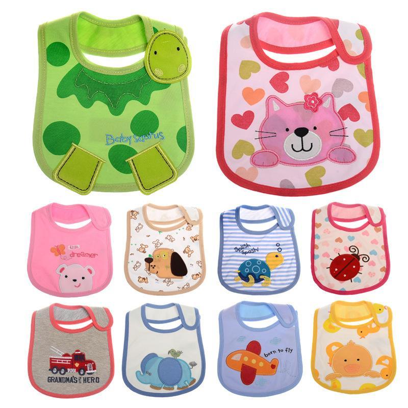 Baby Girl Boy Waterproof Cartoon Towel Kids Toddler Dinner Feeding Bibs