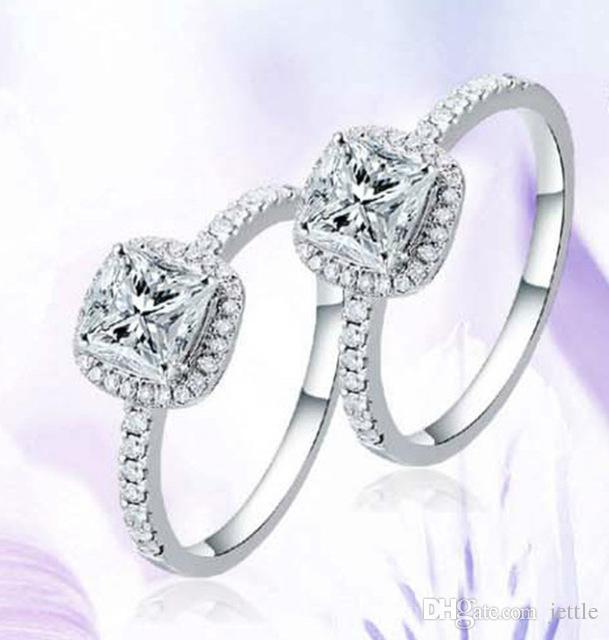 Charm Kristal Yüzükler Severler Bijoux Nişan Düğün Takı Için anel masculino Çift Yüzükler Çift Boyutu 5 6 7 8 9