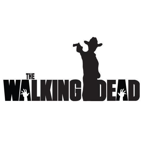 "THE WALKING DEAD Rick with machine gun 8"" VINYL DECAL waterproof Wall STICKER Black Individual Car Sticker Bedroom Mural D198"