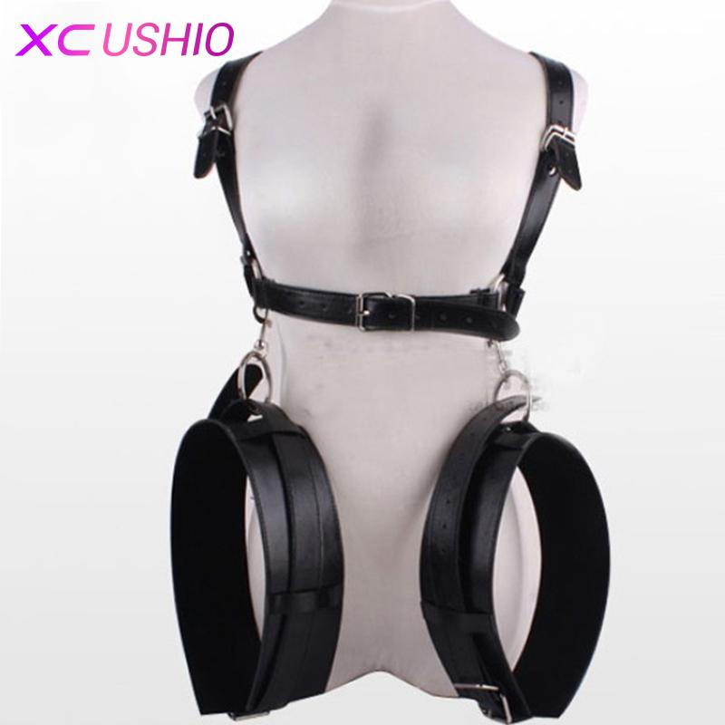 0701 Sex Bondage Restraints Product Shipping Hand Cuffs Rope Leather Adult Sex Game Thigh Toy SM Bondage Set Fetish Free with Erotic Nwwfo