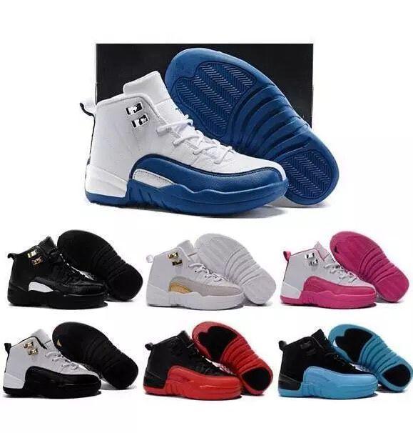 12 Basketball-Schuh-Kind-athletische Sportschuhe der Kinder für Jungen-Mädchen-Schuhe geben Verschiffen frei Größe: 28-35