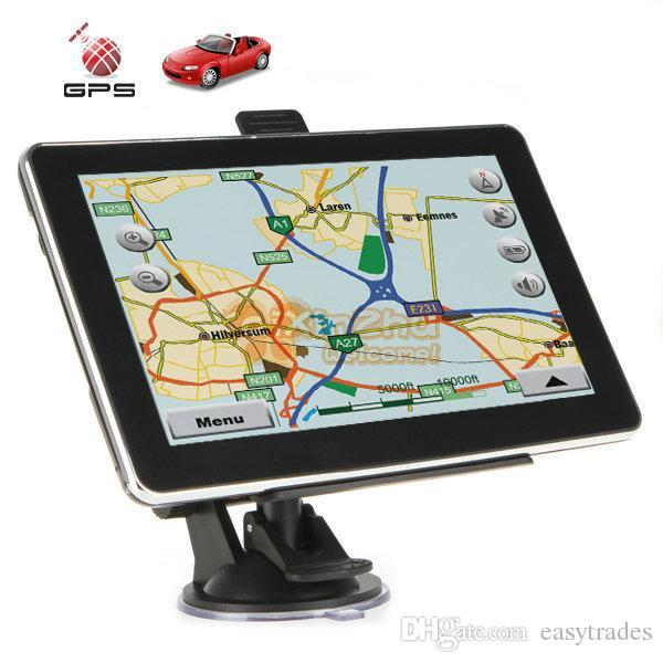 ByJo 7 pollici HD Car GPS navigazione capacitivo schermo FM 8GB veicolo camion GPS Navigatore auto Europa Sat nav Mappa a vita