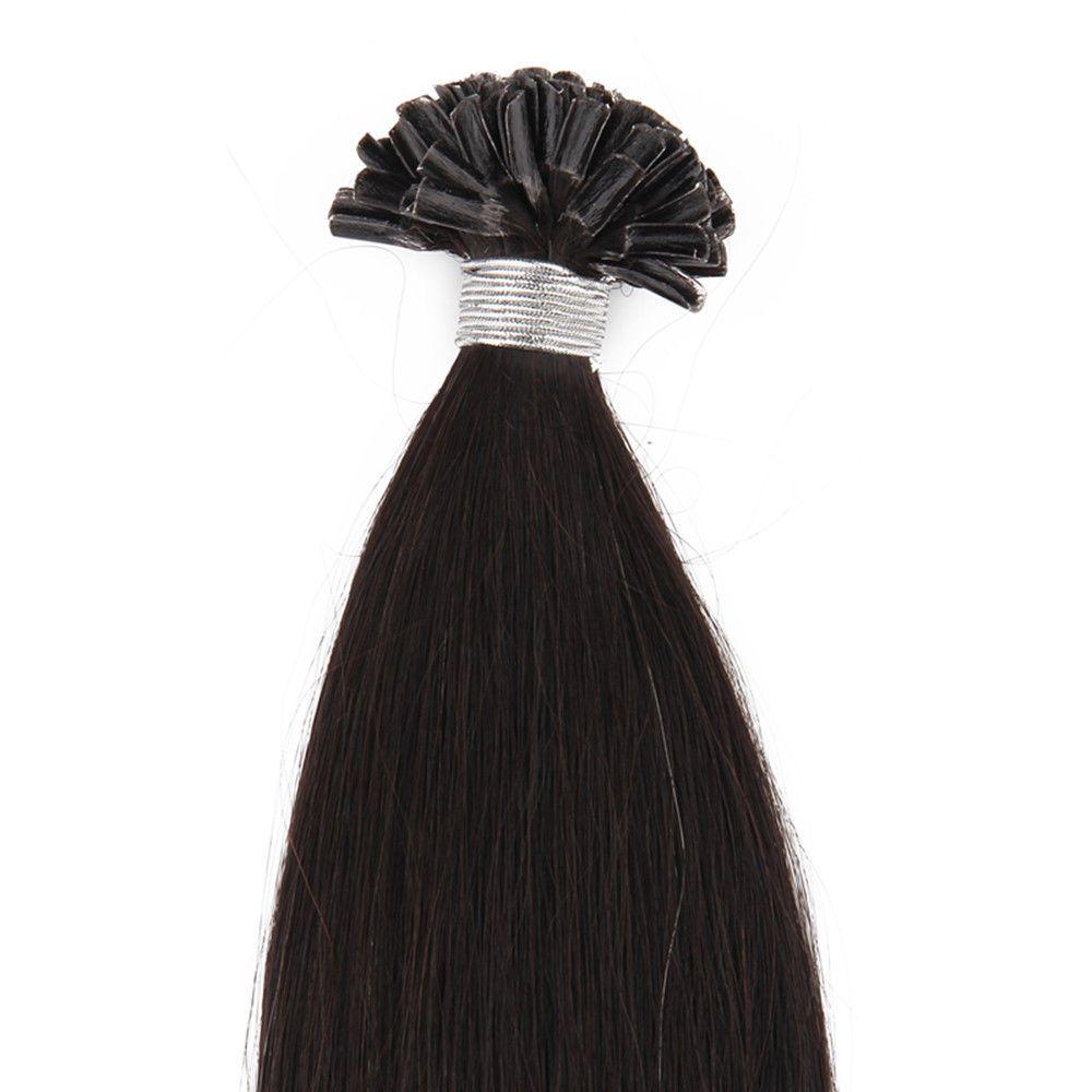 """# 1 I-ucu Önceden bağlanmış Brezilyalı İnsan Saç 1 g / strand, 100 g / takım, 20 """"# 1 # 2 # 33 # 613 Saç Uzantıları İpeksi Düz Ücretsiz kargo"""