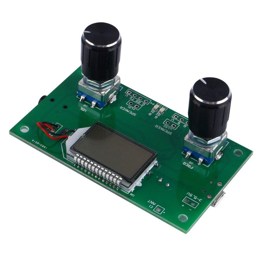 Freeshipping DSP PLL Dijital Stereo FM Radyo Alıcısı Modülü Seri Kontrol Frekans Aralığı Ile 87-108 MHz 50Hz-18 KHz